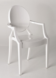 Replica Louis Ghost Chair - Solid White