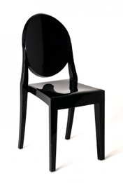 Replica Victoria Ghost Chair - Solid Black