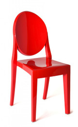 Replica Victoria Ghost Chair - Solid Red