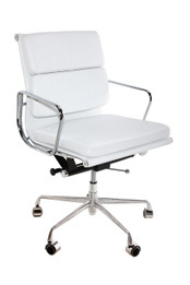 Replica Eames Low-Back & Cushion-Back Office Chair - Italian Leather