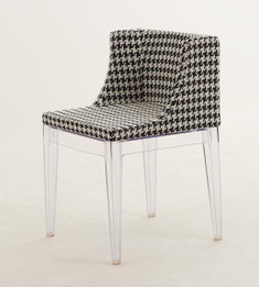 Replica Phillipe Starck Mademoiselle Chair - Black & White Pattern Fabric