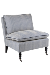 Candace Chevron Occasional Chair - Blue (cl)