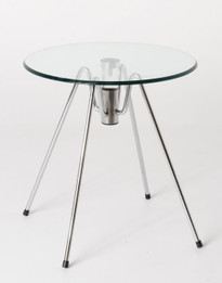 Vito Stein lamp table- Chrome+glass