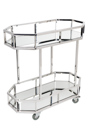 Brooklyn Drinks Trolley - Silver (cl)