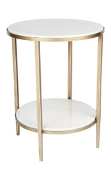 Chloe Marble Side Table - Gold (cl)