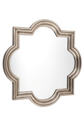 Marrakech Wall Mirror - Large Antique Silver (cl)