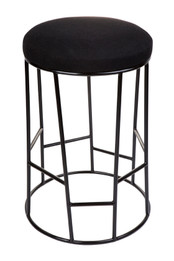 Aiden Kitchen Stool - Black w Black Frame (cl)