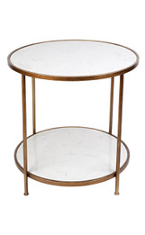 Cameron Marble Side Table (cl)