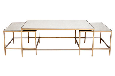 Cocktail Nesting Coffee Table - Antique Gold 3pc (cl)