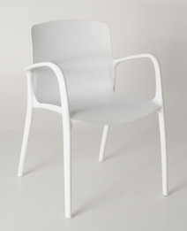 Stackable Cafe chair - White