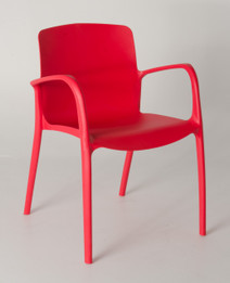 Stackable Cafe chair- Red
