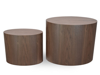 CCF1000-DW Scandinavian Wooden Side Tables - Walnut (cf)