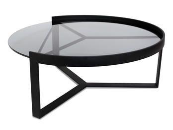 CCF387-L 90cm Glass Coffee Table - Large (cf)