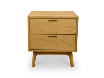 CCF487 Wooden Bedside Table - Natural Oak (cf)