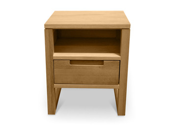 CCF500 1 Drawer Wooden Bedside Table - Natural Oak (cf)