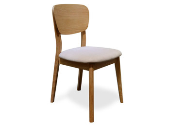 CDC785STO-VN Veneer Dining Chair - Fabric Seat (cf)