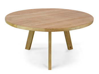 CDT142 Reclaimed Elm Wood 1.5m Round Dining Table (cf)