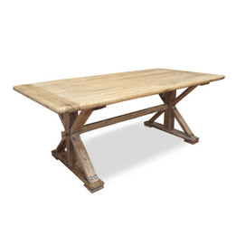 CDT502 Wood Dining Table 3m - Rustic Natural (cf)