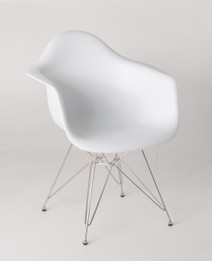 Replica Charles Eames DAR Eiffel Armchair - plastic, chrome legs - various colours