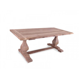 CDT514 Dining Table 3m - Rustic Natural - 120cm (W) (cf)