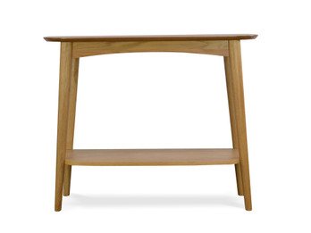 CDT777-VN Narrow Wood Console Table with Shelf (cf)