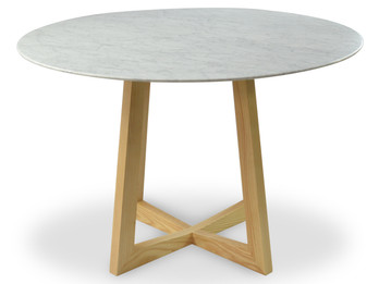 Zodiac 1.15m Marble Round Dining Table - Natural (cf)