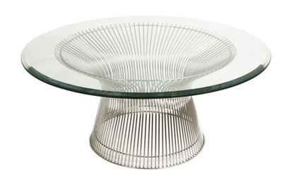 Warren Platner Coffee Table - Stainless Steel - Glass Top 80cm, 90cm, 100cm