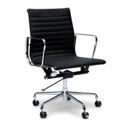 COC101  Leather Office Chair - Black (cf)