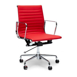 COC101R Leather Office Chair - Red (cf)
