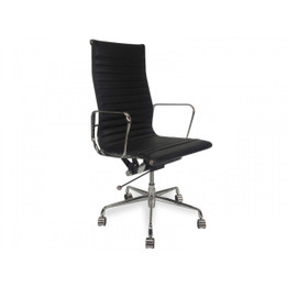 COC102  Leather Office Chair - Black (cf)