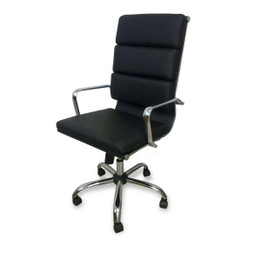 COC110 Soft Pad Boardroom Office Chair - Black (cf)
