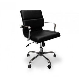 COC112 Soft Pad Boardroom Office Chair - Black (cf)