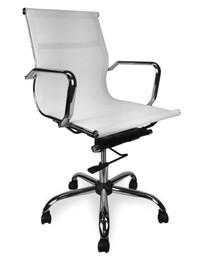 COC211 Designer Mesh Boardroom Office Chair - White (cf)