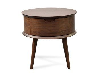 CST222WAL-VN Scandinavian Side Table - Walnut (cf)
