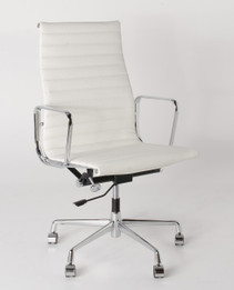 Replica Eames High-Back & Ribbed-Back Office Chair - Italian Leather - various colours