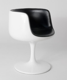 Replica Cup/Cognac Chair - Full White with black cushion