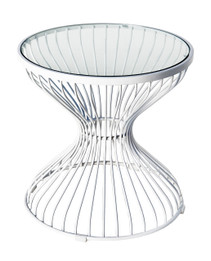 Replica Wire lamp table-powdercoated white
