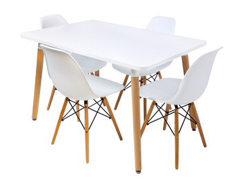 Combo Special Price - Replica Mario Cellini Halo Dining Table (120cm) and 4 x Eames Dining Chairs