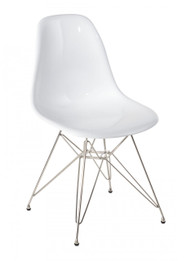 Replica Charles Eames DSR Eiffel Dining Chair - fibreglass, chrome legs - various colors