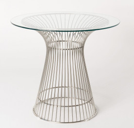 Replica Warren Platner - Wire Dining Table - Stainless Steel - Glass Top - 80cm, 90cm, 100cm
