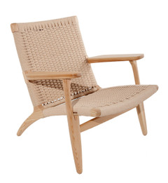 Replica Hans Wegner CH25 Easy Arm Chair - Natural Cord Seat - Various Wood Colours