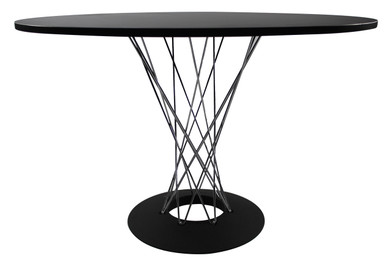 Replica Noguchi Cyclone Dining Table - Black MDF Top