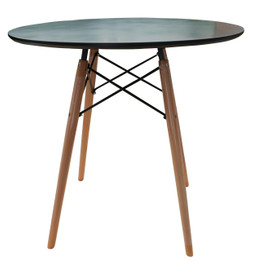 Replica Eames DSW Dining Table - Black Top 80cm