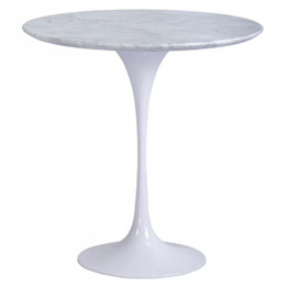 Replica Tulip Lamp or Coffee Table or Bedside Table -  White or Black Marble - 50cm or 60cm