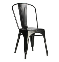 Replica Tolix Chair - Powder-coated black, white or Gun Metal