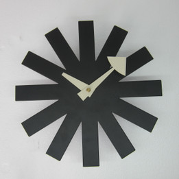 Replica George Nelson Asterisk Clock - black