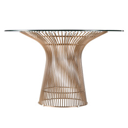 Replica Warren Platner - Wire Dining Table - Rose Gold - Glass Top - 100cm, 120cm, 140cm