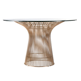 Replica Warren Platner - Wire Dining Table - Rose Gold  - Glass Top - 80cm, 90cm, 100cm