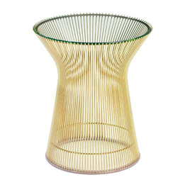 Replica Warren Platner Lamp/Side Table-gold frame
