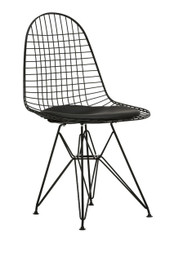 Replica Ray & Charles Eames DKR Wire Chair - Powdercoated Black - various colour seat cushion only